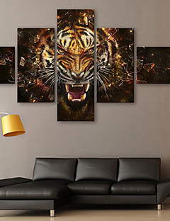 Canvas Art Animais Roar conjunto de 5