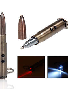 LT - 5mw 650nm Red Laser  Pen Flashlight - Gold