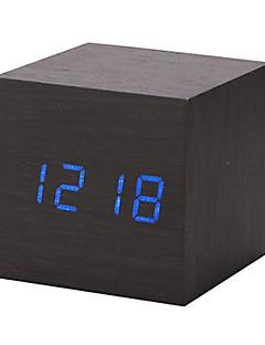 Noul lemn moderne din lemn calendar digitale de alarmă de birou a condus timer termometru ceas