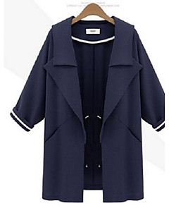 Damen Trench Coat  -  Leger Langarm Andere