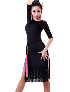 Latin Dance Dresses&Skirts Women's Performance Chinlon Tassel(s) 1 Piece(Not With Waist Belt) Black