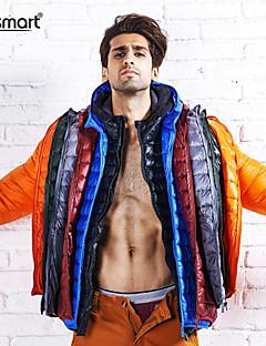 男性用 レギュラー ダウン コート , ナイロン プレイン 長袖