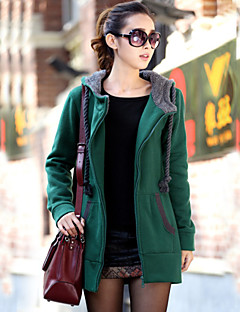 Women's Geometric Hoodies , Vintage / Casual / Plus Sizes Crew Neck / Stand / Hooded Long Sleeve