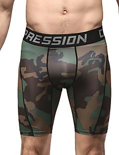 ריצה תחתיות לגברים נושם ריצה ספורטיבי ירוק כהה להסוות S / M / L / XL