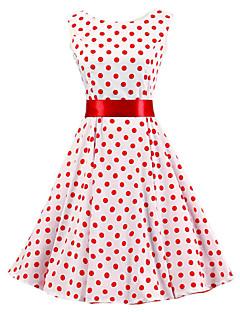 Sukienka - Obuwie damskie - Plisy - Do kolan - Bez rękawów - Okrągły dekolt
