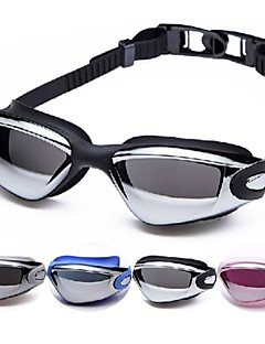 Made In China svømmebriller Dame / Herre / Børn / Unisex Anti-Tåge / Vandtæt / Justerbar Størrelse Acetat Akryl Sort / Sølv Sølv