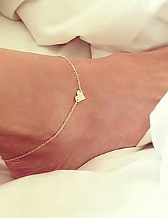 Γυναικεία Βραχιόλι αστραγάλου/Βραχιόλια Επιχρυσωμένο Μοναδικό Μοντέρνα μινιμαλιστικό στυλ κοστούμι κοστουμιών Heart Shape Κοσμήματα