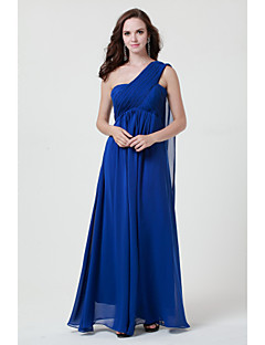 Floor-length Chiffon Burgundy / Royal Blue / Ivory / Silver / Black Link Blue Bridesmaid Dress A-line Strapless