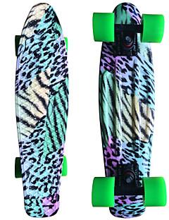farbenen Leoparden Grafik gedruckt Kunststoff-Skateboard (22 inch) Cruiser-Board mit ABEC-9 Lager