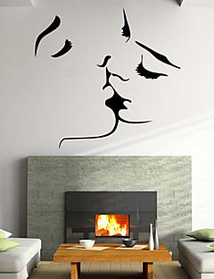 Tiere / Botanisch / Romantik / Stillleben / Mode / Blumen / Fantasie Wand-Sticker Flugzeug-Wand Sticker , PVC57x55x 0.1cm (22.44x2.44x