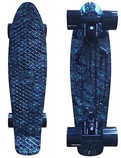 schwarz pfauen Grafik gedruckt Kunststoff-Skateboard (22 inch) Cruiser-Board mit ABEC-9 Lager