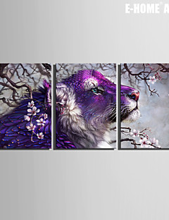 Животное / фантазия Холст для печати 3 панели Готовы повесить , Вертикальная