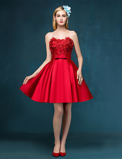 Cocktail Party Dress - Ruby A-line Sweetheart Short/Mini Satin