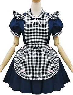 Blue Polyester Europe Maid Costume