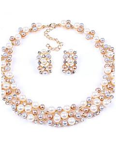 Schmuck-Set Damen Jubiläum / Hochzeit / Verlobung / Geburtstag / Geschenk / Party / Alltag Schmuck-Set Legierung Künstliche Perle