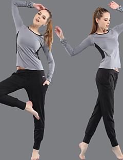 ヨガ 洋服セット/スーツ パンツ + トップの 高通気性 伸縮性 スポーツウェア 女性用 - OUDIKE ヨガ