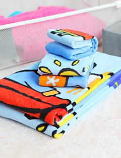 3-teilig aus 100% Baumwolle Cartoon-Muster Handtuch-Set