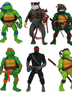 6Pcs Teenage Mutant Ninja Turtles Action Figures Classic Collection Toy Set Boy Hight