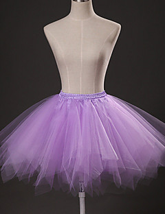 Slips Ball Gown Slip Knee-Length 3 Tulle Netting Purple