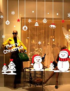 Noël Nature morte Mode Histoire Vacances Paysage Forme Stickers muraux Autocollants avion Autocollants muraux décoratifs MatérielAmovible