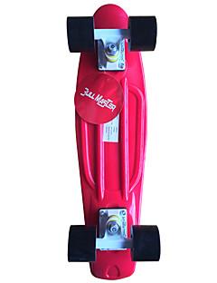 classic Kunststoff-Skateboard (22 inch) cruiser Bord rot mit schwarzen Rädern