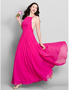 Lanting Bride® Ankle-length Chiffon Bridesmaid Dress A-line Spaghetti Straps with