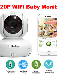 Besteye® U5886 Wireless Smart IP Camera WIFI Baby Monitor with Night Vision Two-Way Audio Temperature Detection Free App