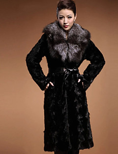 Women Rabbit Fur / Faux Fur Outerwear , Lined