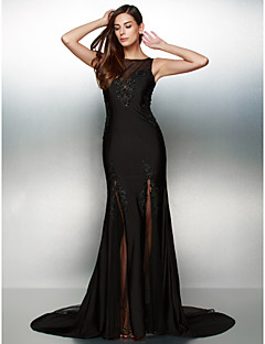TS Couture® Formal Evening Dress Trumpet / Mermaid Scoop Court Train Jersey with Beading