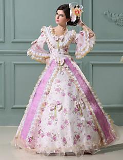 steampunk®top salg rosa utskrift prinsesse kjole viktoriansk kjole / cosplay promenadekonsert kjoler