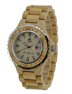 Herren / Damen / Unisex Armbanduhr Japanischer Quartz Holz Band Vintage Rot / Grün / Mehrfarbig / Beige Marke-