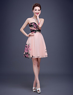 Cocktail PartyFormal EveningBlack Tie GalaCompany Party Family Gathering Dress - Pearl Pink A-line Sweetheart Short/Mini