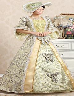 Jednodílné/Šaty Klasická a tradiční lolita Steampunk® / Viktoria Tarzı Cosplay Lolita šaty Světle fialová / Zlatá Retro 3 / 4 rukávyLong