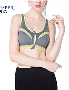 Shaperdiva Ladie's Push Up Padded Underwear Workout Sports Bras Top with Zip