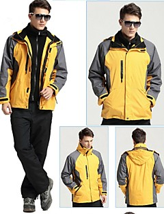 Men Outdoor Sports  Soft Shell Jacket Ski /Climbing Jacket Polar Fleece (2 Piece = Soft Shell Jacke + Liner Jacket)