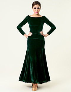High-quality Velvet Ballroom Dance Outfits for Women's Performance(More Colors)
