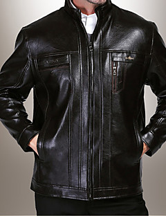 Men PU / Faux Leather Top