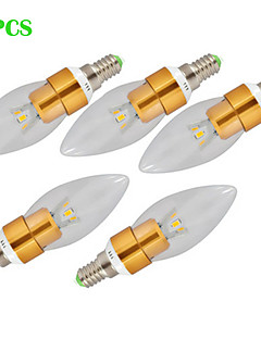 Dekorativ Kronljusglödlampa , E14 7 W 3 Högeffekts-LED 700 LM Varmvit / Kallvit AC 220-240 V