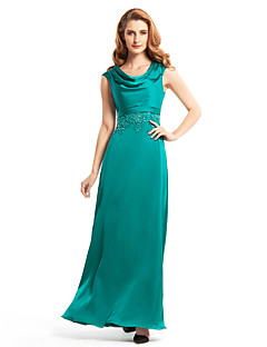 Sheath/Column Mother of the Bride Dress - Jade Ankle-length Sleeveless Chiffon