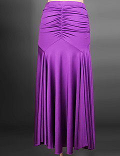 Ballroom Dance Dresses Women's Performance Spandex Draped 1 Piece Black / Orange / Purple / Red / Royal Blue Modern Dance Dress