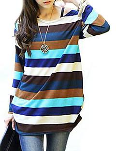Majica s rukavima Ženski,Jednostavno Ležerno/za svaki dan Prugasti uzorak-Dugih rukava Sa spuštenim ramenom-Proljeće / Jesen / ZimaViše