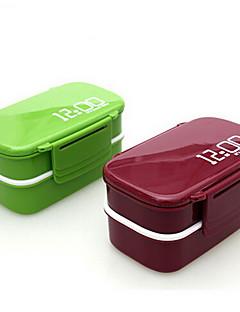 00.00 Uhr 2 Lagen bento lunch box 1.4l Kunststoff Mikrowelle Lebensmittelbehälter