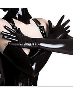 Vrouw Ultrasexy Nachtkleding Effen PU Zwart