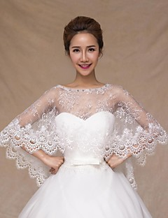 Wedding  Wraps Capelets Sleeveless Lace Ivory Wedding Crystal Lace