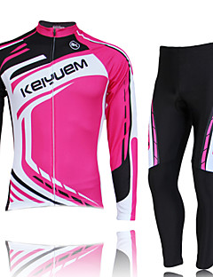 KEIYUEM® Cycling Jersey with Tights Women's / Unisex Long Sleeve BikeWaterproof / Breathable / Quick Dry / Windproof / Insulated /