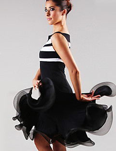 Latin Dance Dresses Women's Performance Spandex Draped 1 Piece Dress 105