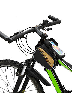 Saco da bicicleta 5LMochila com Moldura Externa / Bolsa para Quadro de Bicicleta Á Prova-de-Água / Multifuncional / Touch ScreenSaco de