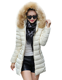 Women's Winter Fashion Hood Long Sleeve Slim Thicken Down Coat More Colors