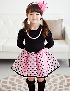 Girl's Dress,Cotton Spring / Fall Pink / Beige