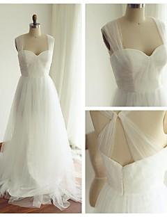 웨딩 드레스-A-라인 스윕/브러쉬 트레인 스트랩 튤